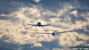 Flugzeugschlepp auf dem Reutberg
